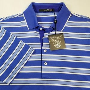 RLX Ralph Lauren Blue Stripe Polo Shirt